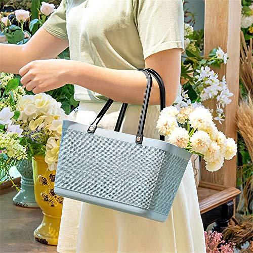 Canasta de Picnic,canastas de Picnic Plásticos ecológicos para el hogar Compra de Alimentos Compras