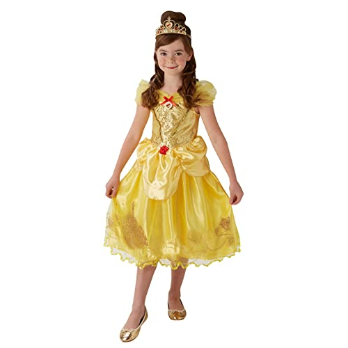 e6624d6948bb Rubie's 620489L Official Disney Princess Beauty and the Beast Belle Deluxe  Costume, Kid's, Large
