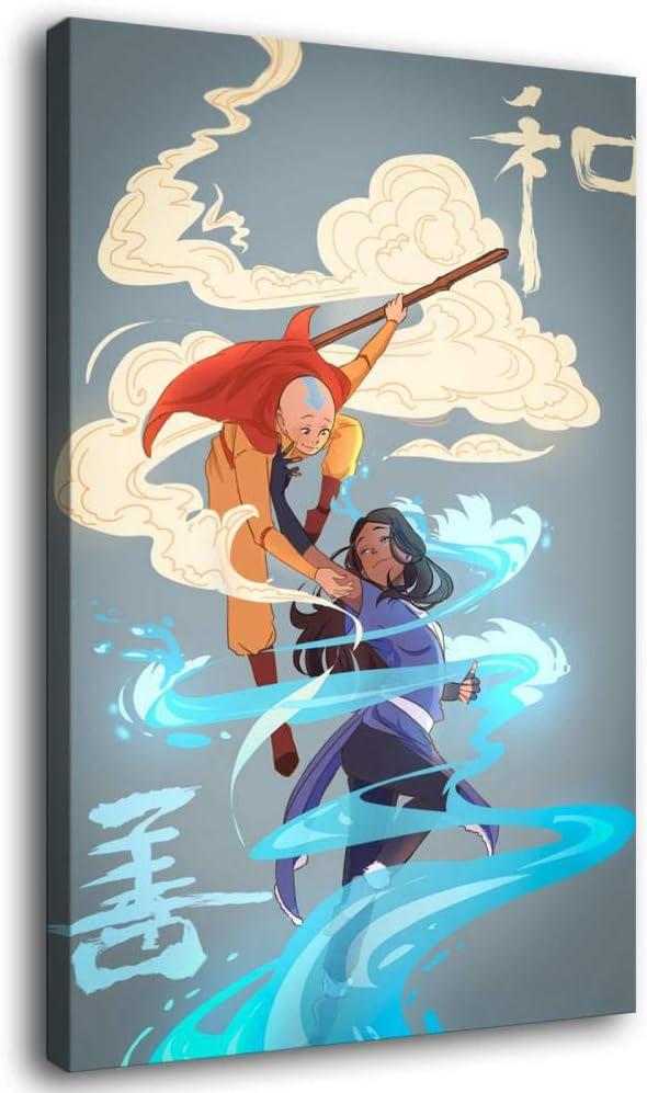 LOPIU 男女兼用 Avatar 5☆大好評 The Last Airbender Cartoon Posters Aang Katara and