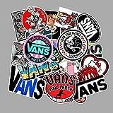DONGJI Logotipo de Moda Vans Off The Wall Stickers PVC Juguetes para niños decoración para Guitarra Bicicleta Motor Coche portátil teléfono Maletero 100 unids/Lote