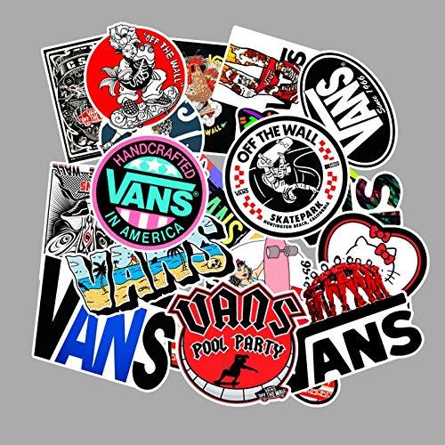 DONGJI Logotipo de Moda Vans Off The Wall Stickers PVC Jugue