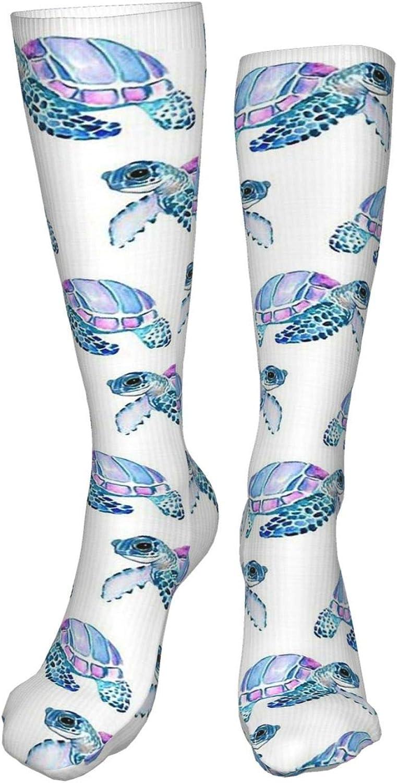 Turtle Women Premium High Socks, Stocking High Leg Warmer Sockings Crew Sock For Daily And Work