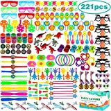 Aitbay 221PCS Party Favors for Kids Bulk, Carnival Prizes, Classroom Rewards, Pinata Filler Easter Egg Filler Toys, Birthday Party Bulk Toy Assortment Box for Boys and Girls