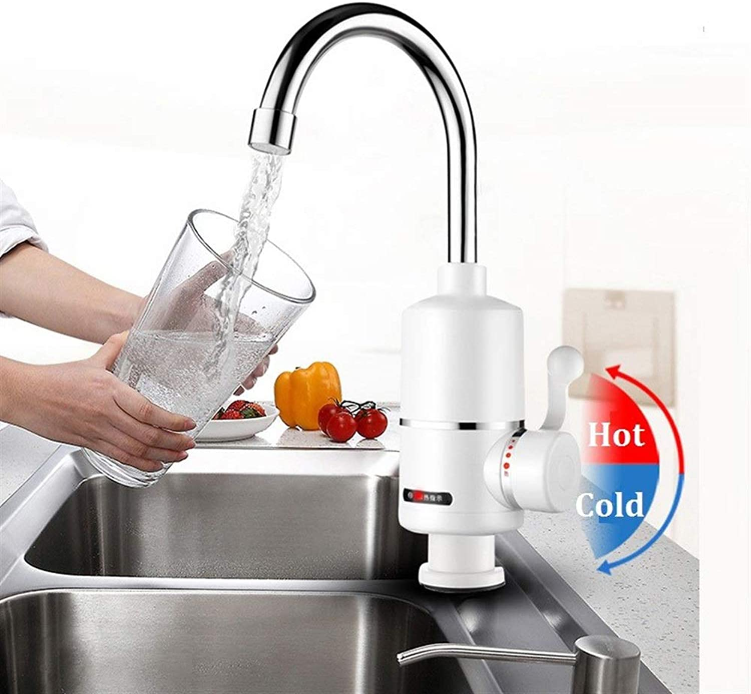 BZAHW 2000W Bathroom Kitchen Instant Hot Water Tap Electric Water Faucet Tankless Electric Water Heater