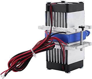 Semiconductor Refrigeration,Dual-chip 144w Semiconductor Thermoelectric Peltier TEC1-12706 Cooler Water Cooling Device(Single Refrigerator)