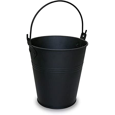 QuliMetal Drip Bucket for Oklahoma Joe's, Grill Grease Bucket Fits Most Offset Smokers, Black