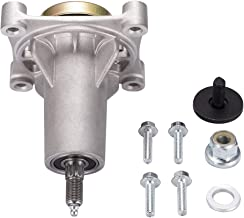 Spindle Assembly for Craftsman/Husqvarna/Ariens/Poulan, Mandrel for Craftsman Husqvarna Ariens Poulan Tractor Mower Deck, Come with All the Mounting Hardware including Threaded Bolt and Grease Fitting