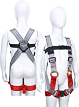 Wildken Kids' Climbing Harness Youth Harness Full Body Zipline Safety Harness for Mountaineering Outward Band Expanding Training Rock Climbing Rappelling Equip