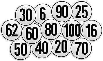Selbstklebendes Geschwindigkeitsschild Für Deutschland Mit 6 16 20 25 30 40 50 80 90 Oder 100 Km H Zur Auswahl Aufkleber Nach 58 Stvzo Lkw Traktor Pkw Anhänger Zugmaschinen 25 Km H Baumarkt