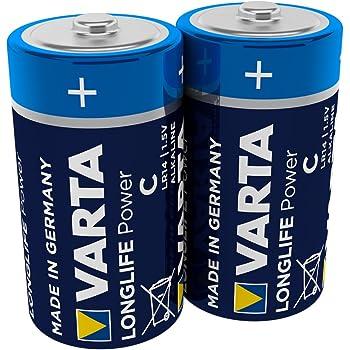 Varta 4914 Pack de 2 Pilas alcalinas, tamaño C, Azul, Pack 2, Set ...