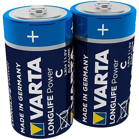 VARTA Longlife Power Alkaline Batterien C Baby LR14 4914 2er Blister