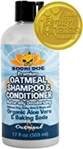 Organic All Natural Oatmeal Dog Shampoo and Conditioner | Hypoallergenic Conditioning..