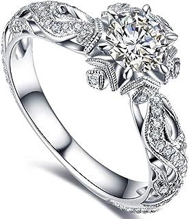 خواتم للنساء، خواتم خطوبة إصدار محدود مجوهرات زوجين رائعة بحجر الراين مجوفة للخارج خواتم الزفاف إكسسوارات هدية