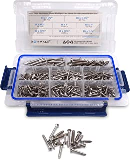304 Stainless Steel Phillips Flat Head Screw 300 Pcs