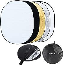 Andoer Timetop-Reflector de luz Plegable para sesión de Fotos en Estudio, Forma Ovalada, 88,9cm x 1,19m