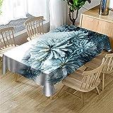 Morbuy Tischdecken Weihnachten, 3D Tanne Zeder Drucken Tischdecke Rechteckig Wasserdicht Abwischbar Tischtuch für Küche Garten Outdoor Party Dekoration (Schnee Zeder,140x210cm)
