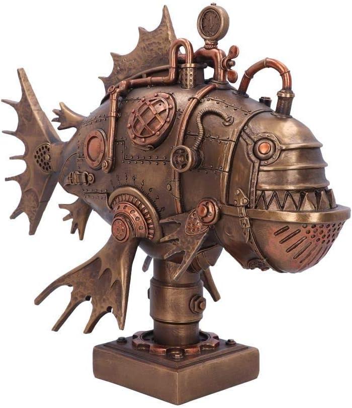Nemesis Now 新作アイテム毎日更新 Perpetual Piranha 全品送料無料 33.5cm Ornament Steampunk