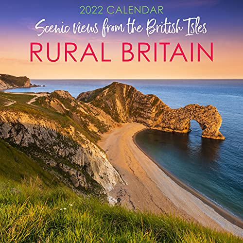 Rural Britain 2022 Wall Calendar – 12″ x 12″ Square Monthly View Hanging Planner Organiser