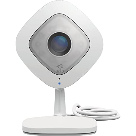 Arlo (VMC3040-100NAS) Q – Wired, 1080p HD Security Camera | Night Vision, Indoor Only, 2-Way Audio | Cloud Storage Included | Works with Alexa (VMC3040), White