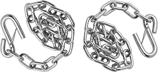 """Fulton CHA0010140 24"""" Trailer Hitch Safety Chain with S-Hook with Latch (5000 lbs. Capacity). 2 Piece"""
