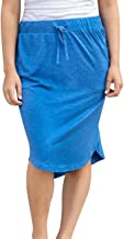wenseny Womens Skirts Knee-Length Pencil-Skirts Solid Midi-Skirts for Ladies Stretchy Drawstring Daily Skirts