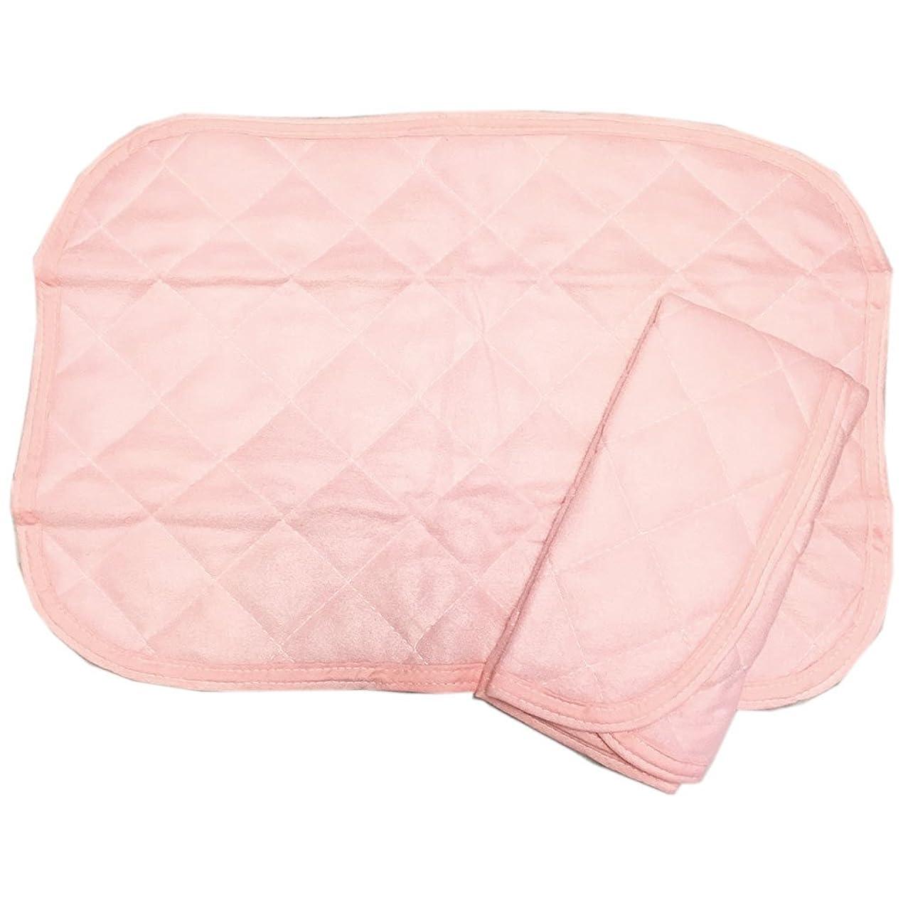 無駄に嫌い国旗洗える 暖か ミニ 起毛 枕パッド 2枚組 (43×63, ピンク)