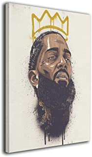 Nipsey-Hussle Picture Canvas Wall Art Print Paintings Modern Artwork For Living Room Wall Decor And Home Decor Framed Ready To Hang