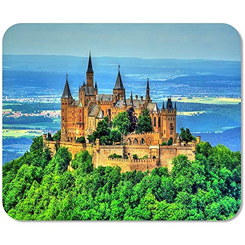 Mausepad Blick Auf Schloss Hohenzollern In Den Schwäbischen Alpen Baden Gedruckte Spezielle Büromaus Matte Mousepad Spiel Mousepad Rutschfeste Arbeit Bunte Schule 25 X 30Cm