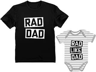 Rad Dad - Rad Like Dad Father Shirt & Son Bodysuit Funny Dad & Me Matching Set