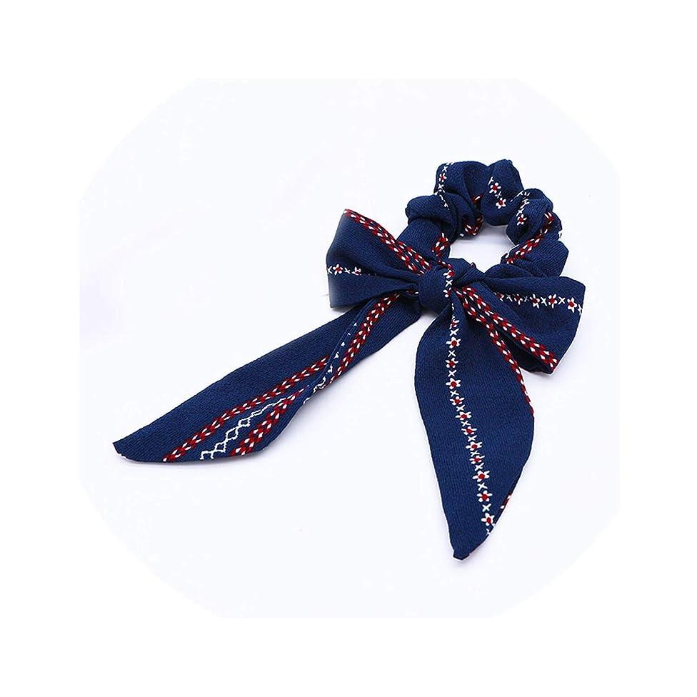 Sale Hair Ring Scrunchies Horsetail Tie Streamer Dots Print Flower Long Tassel Ribbon Girl Hair Bands Headwear Accessories,F