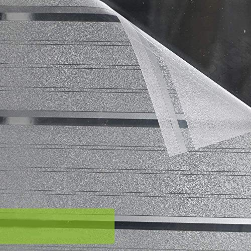 LMKJ Película de Ventana de privacidad Opaca, Etiqueta de Ventana sin Adhesivo de Tira Ancha esmerilada, película de Puerta de Vidrio película Anti-Ultravioleta A22 45x100cm