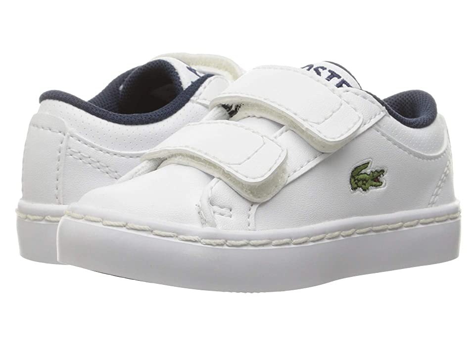 Lacoste Kids Straightset (Toddler/Little Kid) (White) Kids Shoes