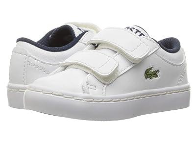 Lacoste Kids Straightset (Toddler/Little Kid) (White) Kids Shoes