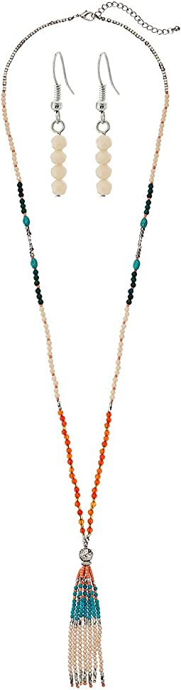 M&F Western - Beaded Fringe Necklace/Earrings Set