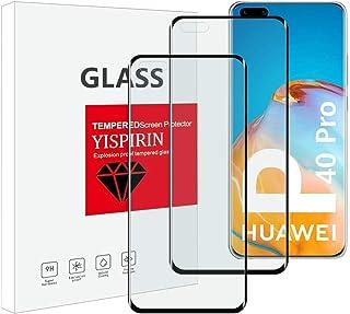 YISPIRIN skärmskydd och kameralinsskydd för Huawei P40 Pro, [2+2-pack] [Anti-fingeravtryck] [9H hårdhet] [Fodralvänlig] [3...
