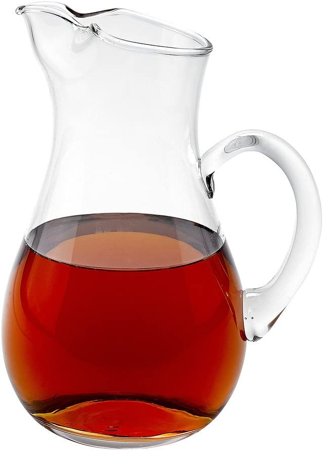 Badash Safety and trust Zeus Crystal Glass Pitcher Raleigh Mall 36 P oz. - Mouth-Blown