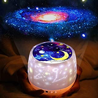 2 in 1 Night Light Projector for Kids,AIRGINE 360 Degree Rotation Universe/Starry sky/Sea World/Birthday/Constellation/Sol...