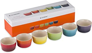 Le Creuset Set de ramequines, 6 unidades, Redondo, Cada uno 120 ml, Cerámica de gres, Multicolor (Arcoíris)