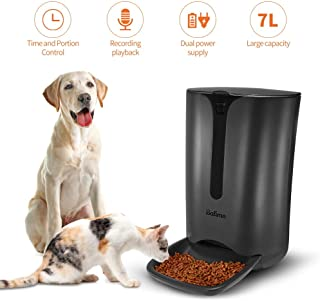 Balimo Automatic Smart Pet Feeder for Cat and Dog,Food Dispenser with Distribution Alarms,Portion Control,Voice Recorder,Programmable Timer for up to 4 Meals per Day,7L