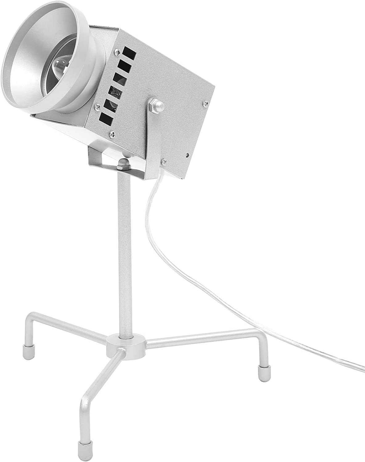 Euro Style Collection Cannes Metal Body Cinema Design Table Lamp, Silver