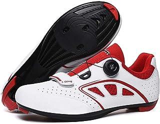 WWSUNNY Chaussures de Cyclisme,Chaussures de Cyclisme sur Route Quatre Saisons,Semelle Dure, Respirantes, Chaussures de Ve...