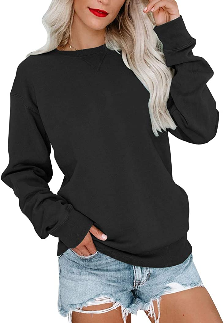Bingerlily Womens Casual Long Sleeve P Many popular brands Crew Super beauty product restock quality top Sweatshirt Neck Cute