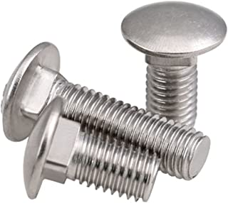 M8 x 50mm A2 Stainless Steel Carriage Bolt Coach Bolt,Right Hand Threads,Metric,8-Pieces