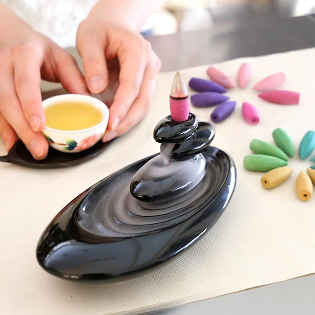 マーキー強調する解体する誕生日 プレゼント アロマインセンス 6種の香り の アロマ香炉 BOX 逆流香 (誕生日カード)