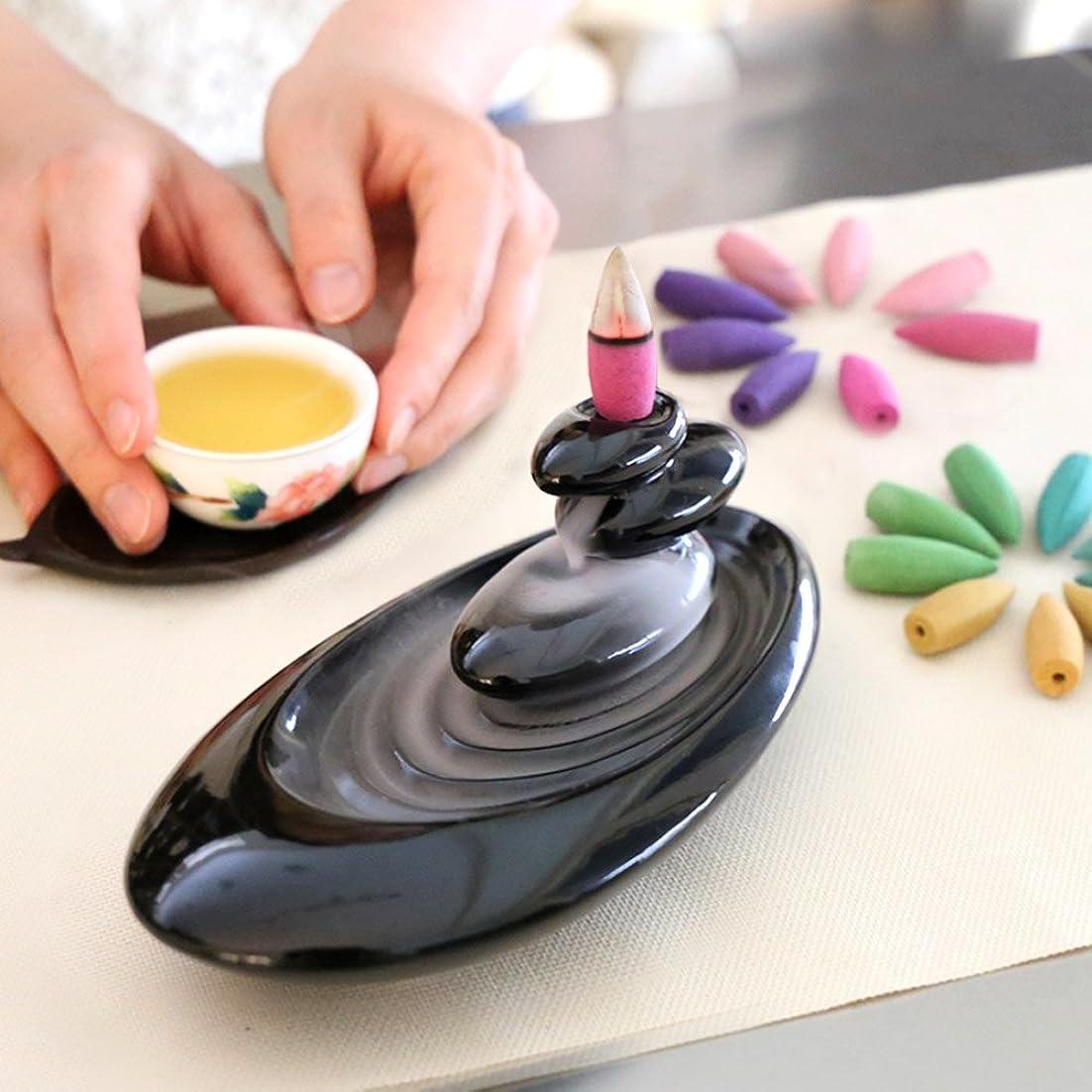 マウスしおれた送金誕生日 プレゼント アロマインセンス 6種の香り の アロマ香炉 BOX 逆流香 (誕生日カード)