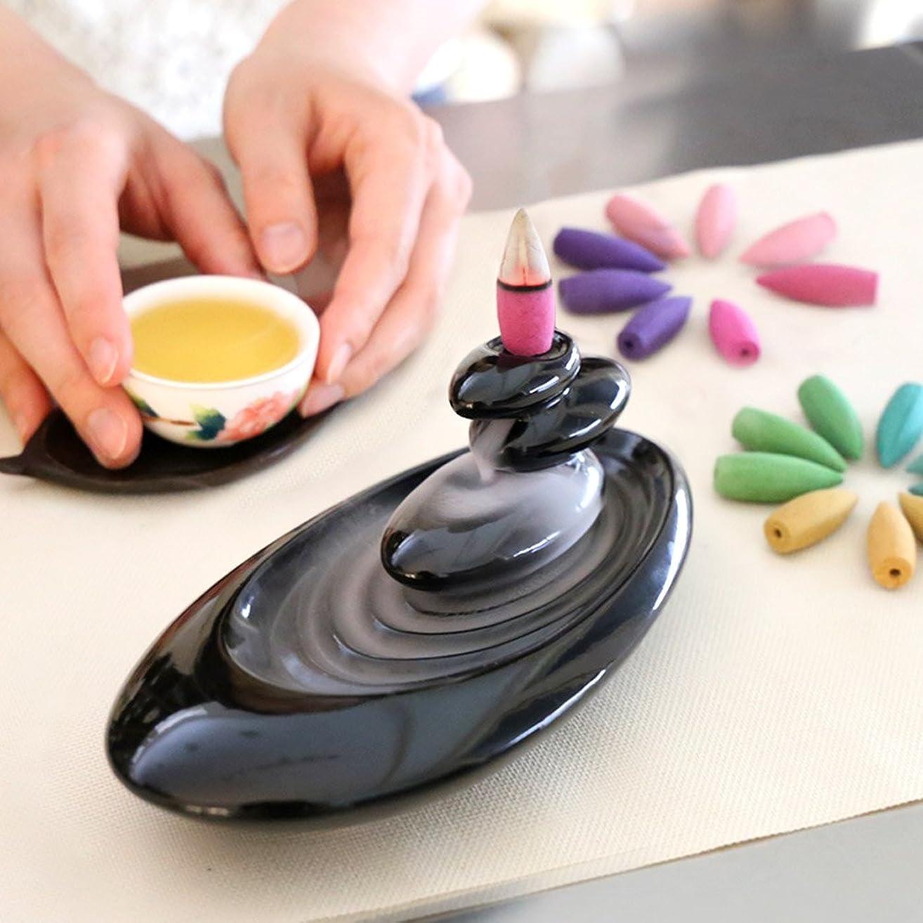リファイン冬たるみ誕生日 プレゼント アロマインセンス 6種の香り の アロマ香炉 BOX 逆流香 (誕生日カード)