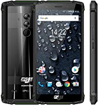 ZOJI Z9 Android 8.1 Rugged 4G Unlocked Smartphone,IP68 6GB RAM 64GB ROM Helio P23 MTK6763 Octa-Core Mobile Phone, 5.7inch Face ID 5500mAh Waterproof FDDLTE 21MP Camera Cell Phone-Green