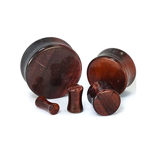 Red Tigers Eye Stone Double Flare Plug Price Per 1