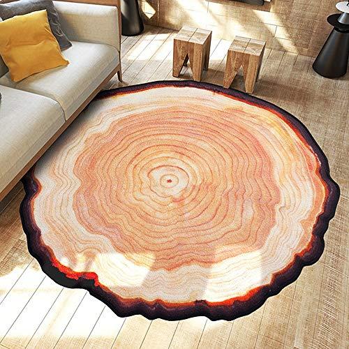Poowe Alfombra Lavable con diseño de árbol Grande y Antideslizante para Sala de Estar