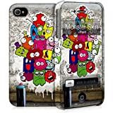 i-Paint Monster Hard Case with Skin Cover for iPhone 4/4S
